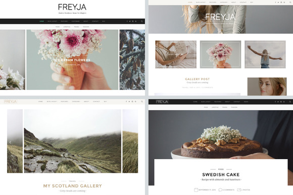 DOWNLOAD - FREYJA-wordpress theme for bloggers