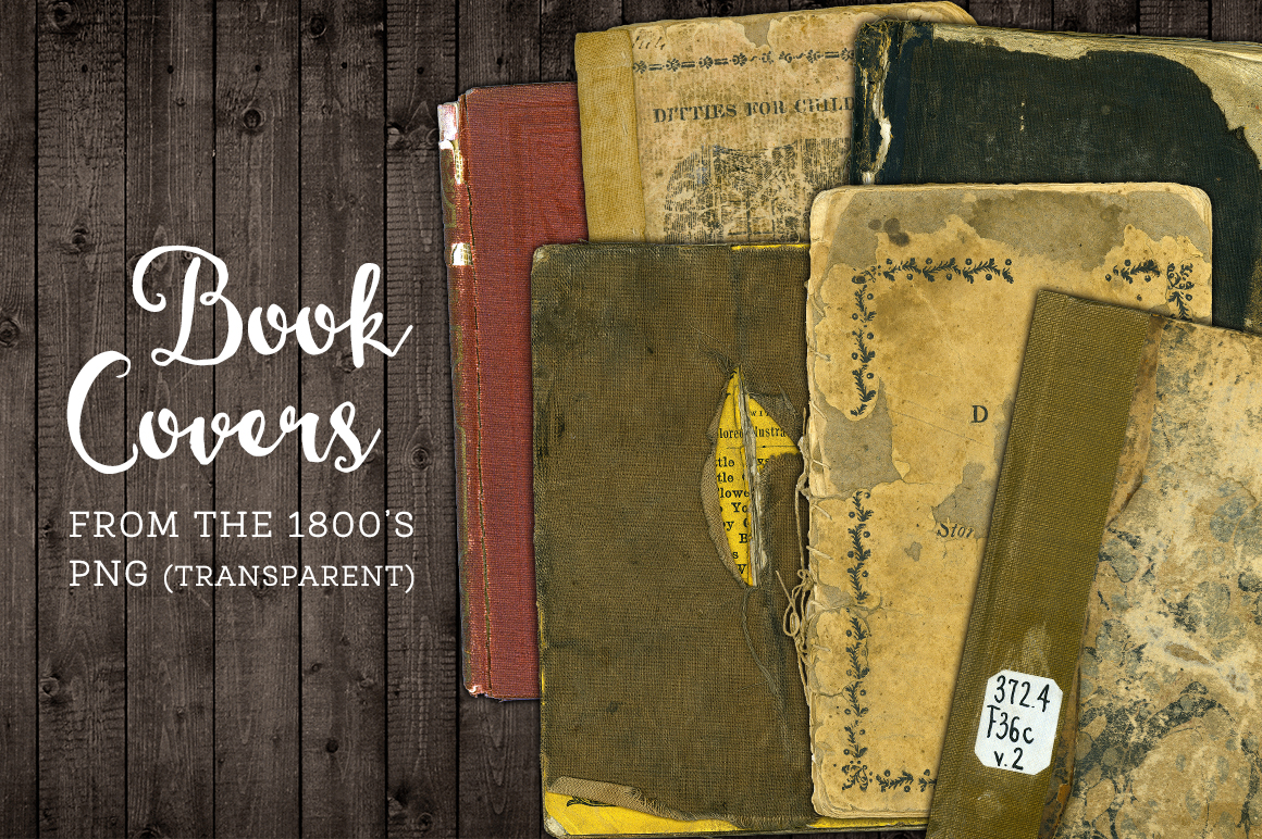 Worn Book Cover Texture : Worn book cover png graphics set textures on creative market