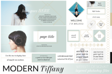 Modern Tiffany Website/Blog Kit