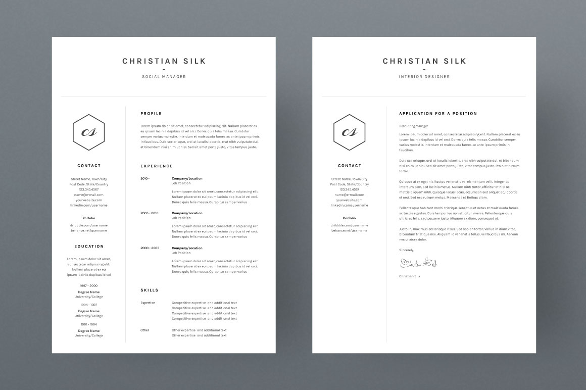 christian silk  cv template