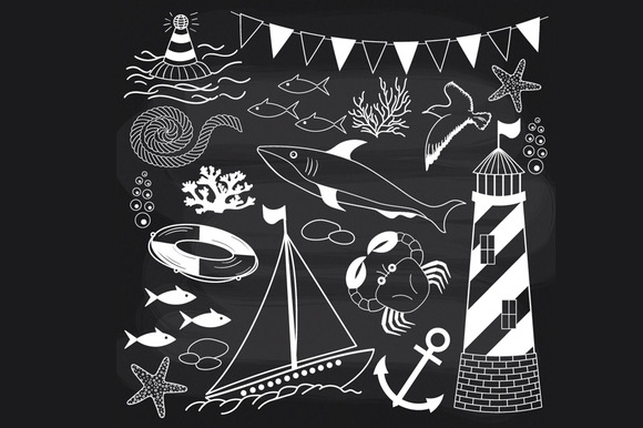 Chalkboard Nautical Set
