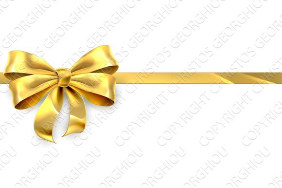 Gold Bow Ribbon Gift Ribbon