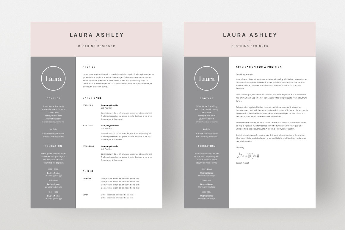 laura ashley  cv template