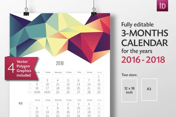 calendar template 2017 indesign - Calendar