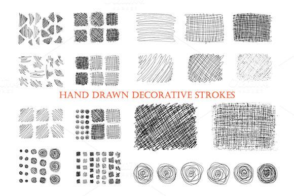 Hand Drawn Ink Decorative Strokes