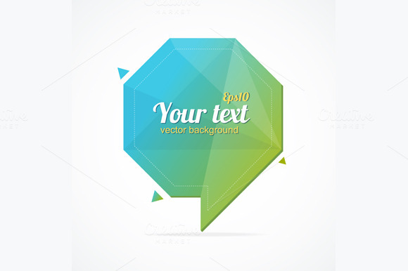 Abstract Paper Speech Bubble. Vector - Illustrations