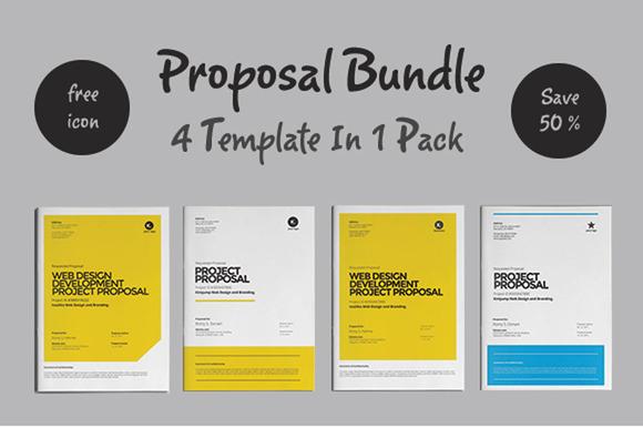web design proposal brochure templates on creative market. Black Bedroom Furniture Sets. Home Design Ideas