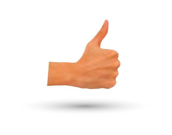 Vector Photorealistic Thumb-up Hand