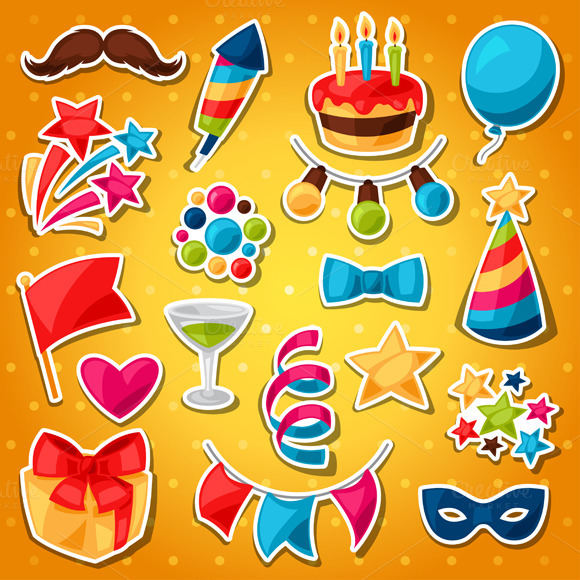 Show And Party Celebration Stickers