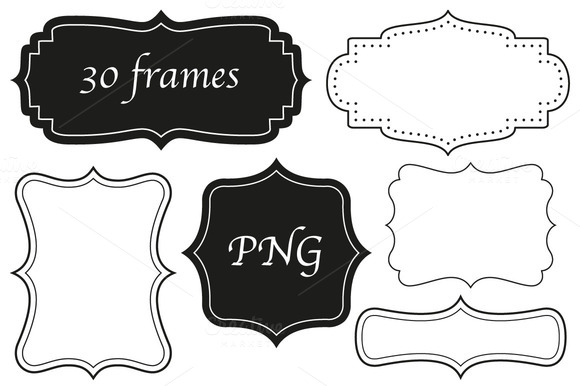 30 Frames In Four Styles PNG