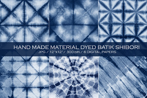 Мaterial dyed batik. Shibori