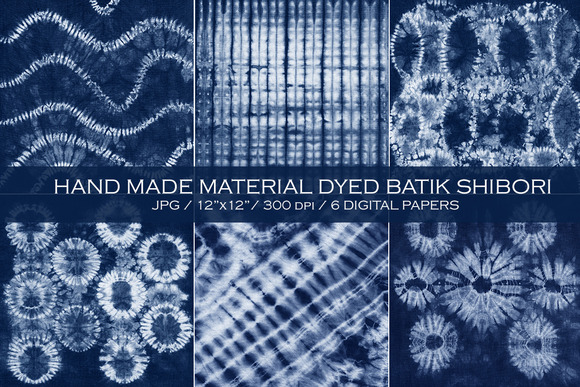 Material dyed batik. Shibori - Textures