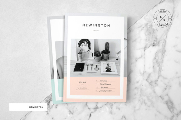 newington portfolio brochure templates on creative market. Black Bedroom Furniture Sets. Home Design Ideas