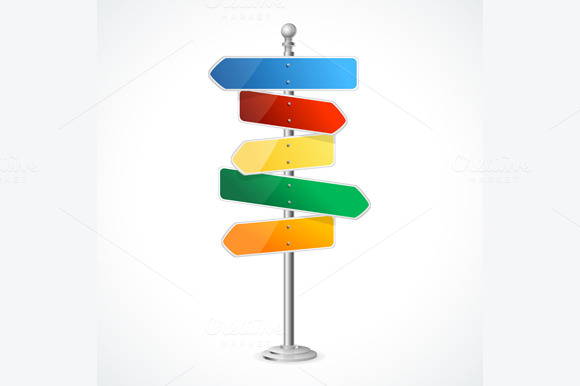 Direction Road Signs Vector