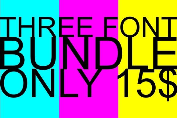 Three Font BUNDEL Only 15$