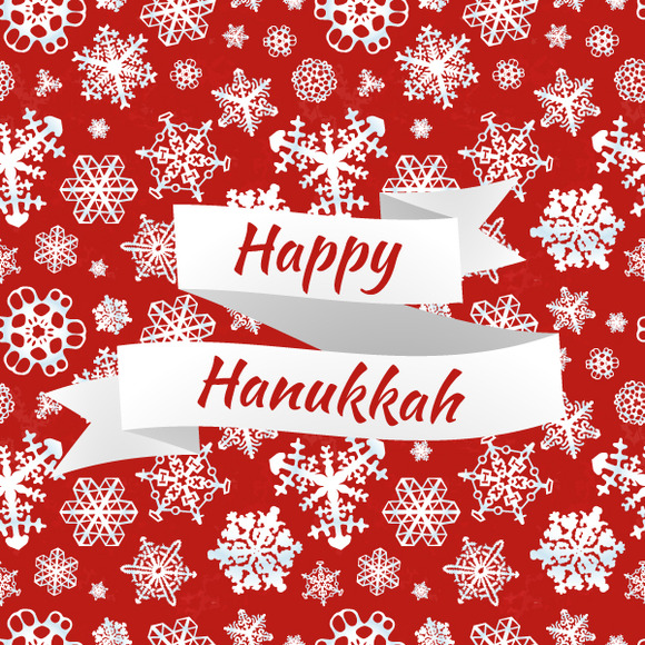 Happy Hanukkah Card With Nowflakes