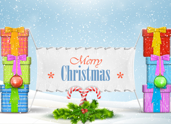 Christmas Banner With Greeting