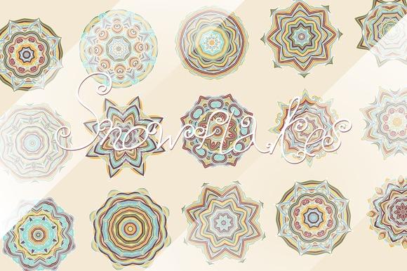 30 Decorative Stylized Rosettes