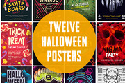 12 Halloween Posters Bundle-Graphicriver中文最全的素材分享平台