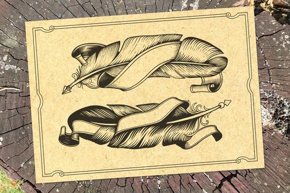 Tattoo Feather Set