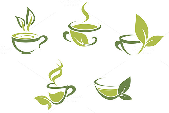 Fresh Tea And Green Leaves