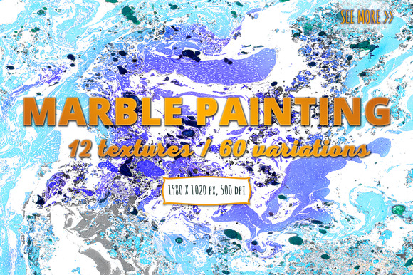 60+ Colorful Marble Paintings Vol.1 - Textures