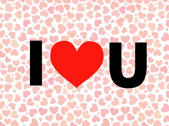 I Love You Valentine Illustration