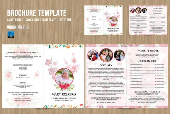 Funeral Program Template-V204
