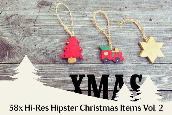 38x Hi-Res Hipster Xmas Items Vol. 2 - Objects