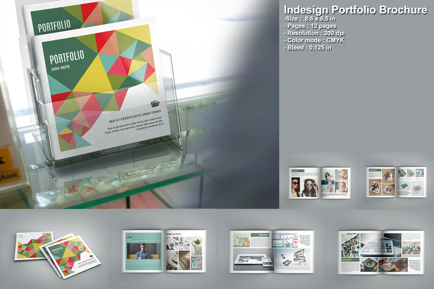 indesign templates for brochures - indesign portfolio brochure v207 brochure templates on