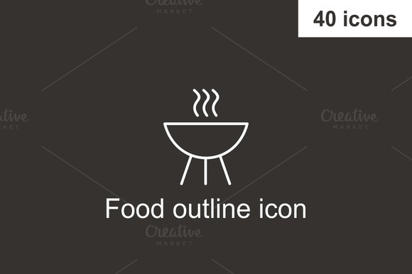 Food Outline Icon