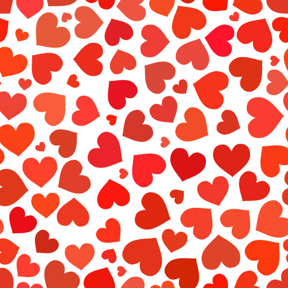 Red Heart On A White Pattern