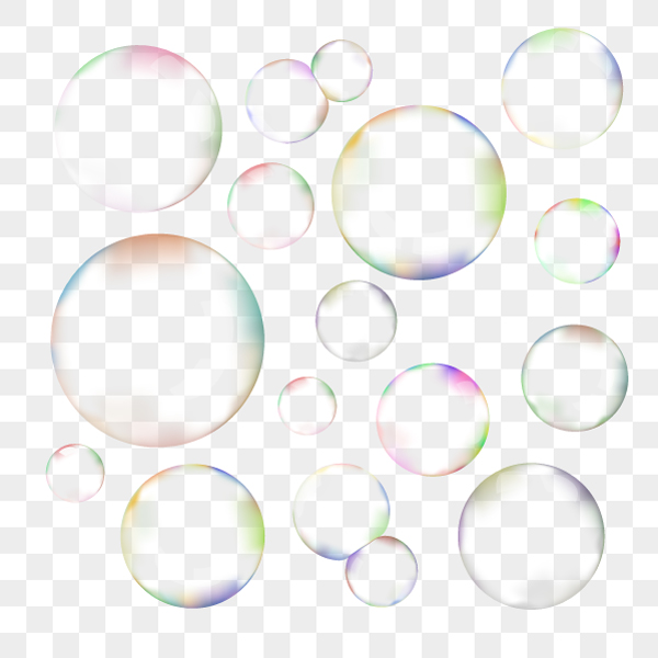 Set Of Transparent Soap Bubbles Objects On Creative Market