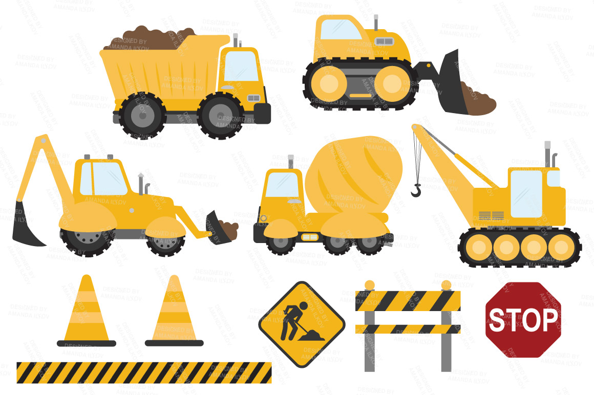 Sunshine construction trucks illustrations on creative for Sunshine construction