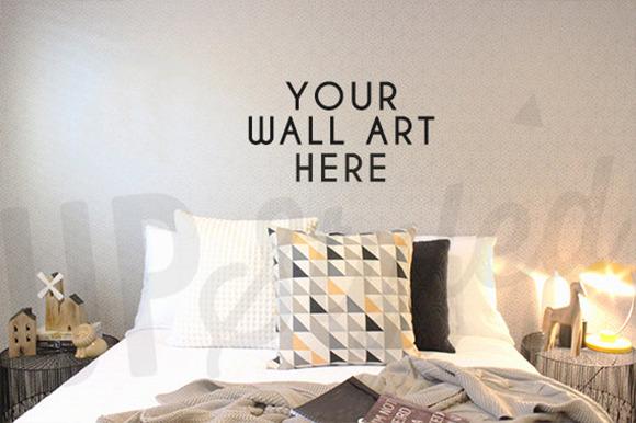 F131 Bedroom Wall Art Mock Up