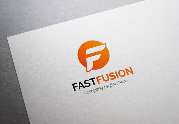 ... logo is fully vector graphic. This logo template can be used in F