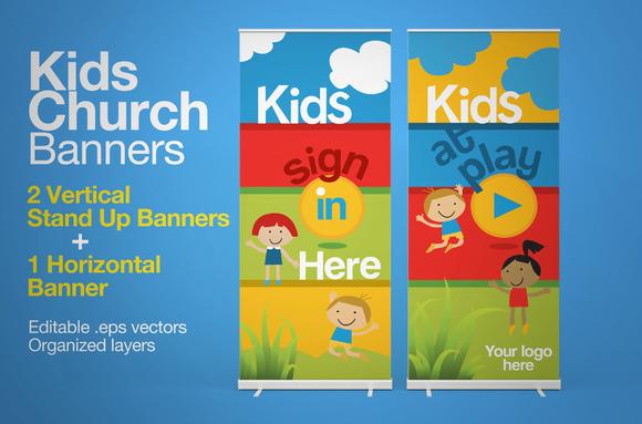 kids church banners presentation templates on creative