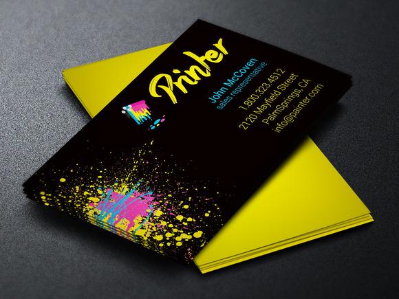Printer business card template business card templates for Business card printing template