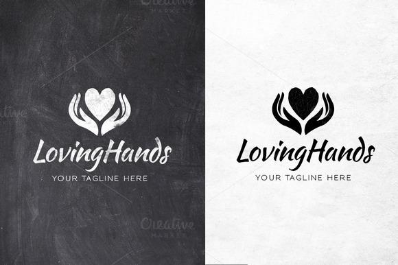 Diamond Heart Hands Logo