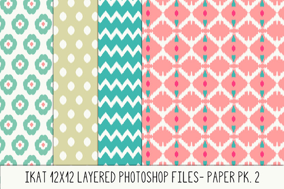 Layered Photoshop Ikat Pattern No. 2 - Patterns