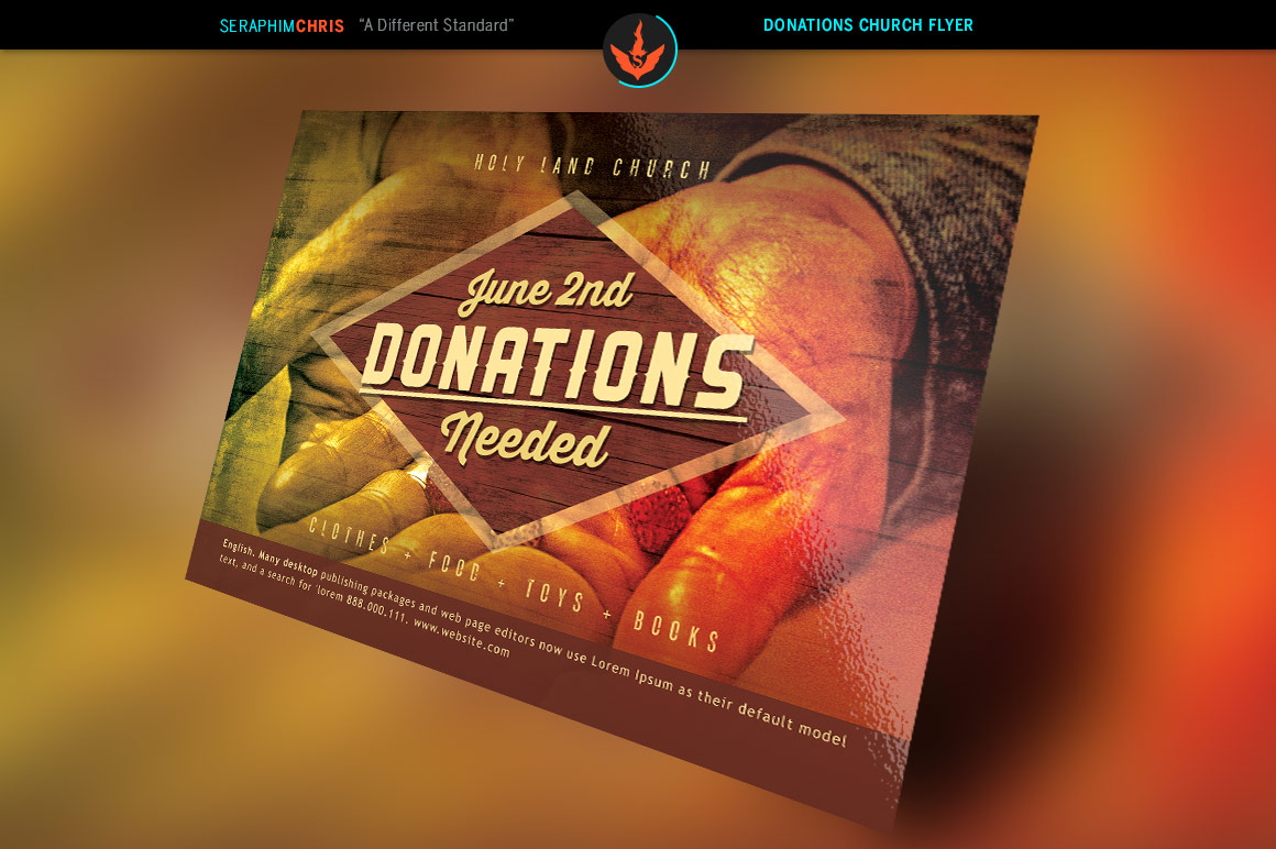 donation church flyer template