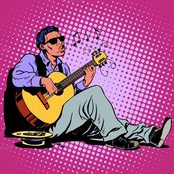 Street Blues Musician African