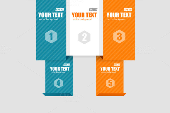 Infographics Options Banner. Vector - Illustrations