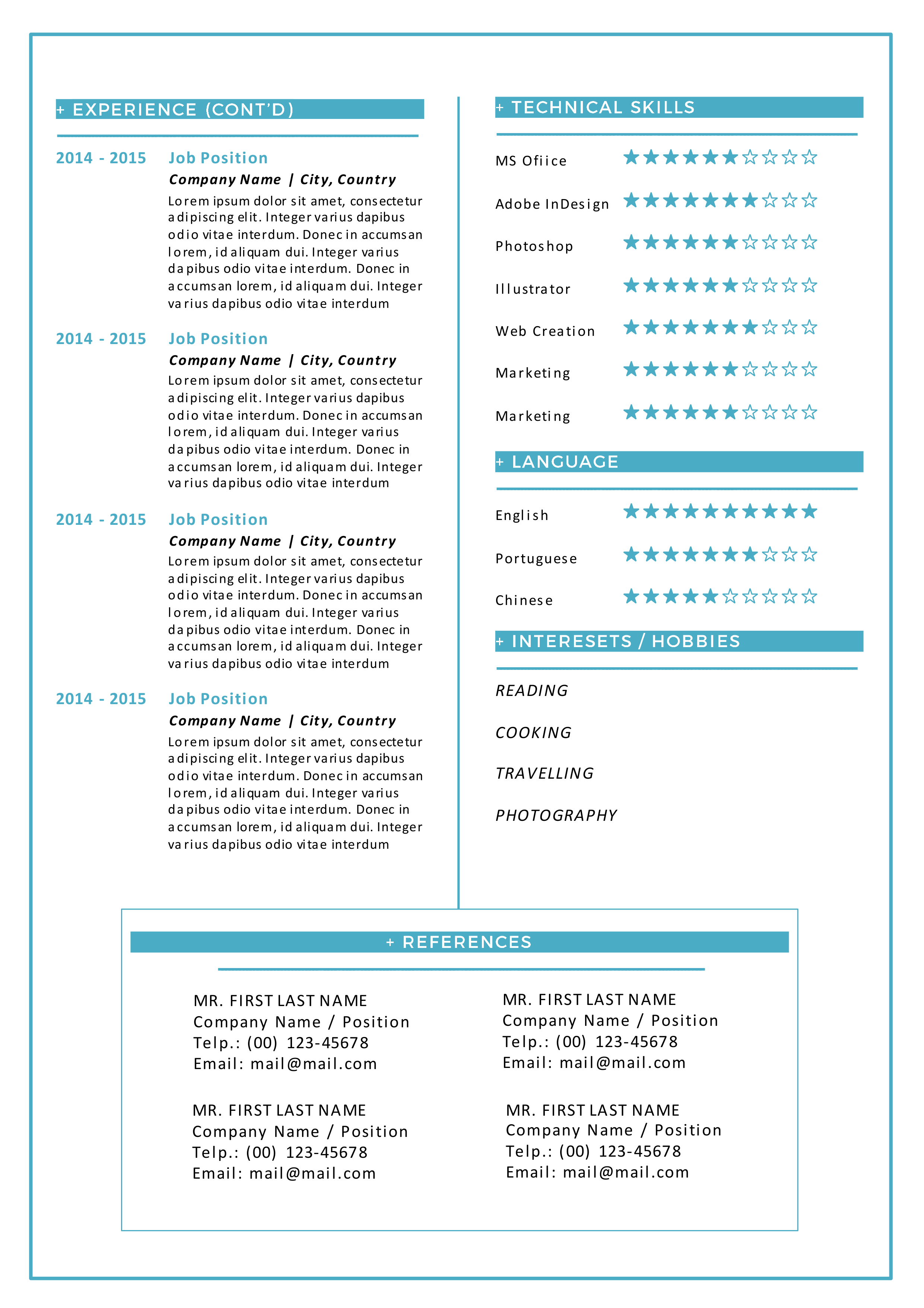 modern resume templates docx to make recruiters awe psdkey cover letter cover letter cv sample for - Sample Cover Letter For Job Resume