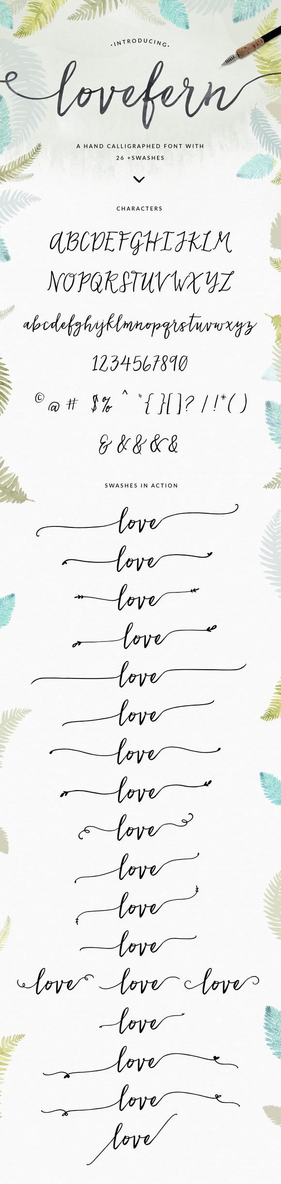 Lovefern Font + SWASHES