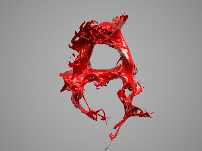 Splash Liquid Alphabet: A