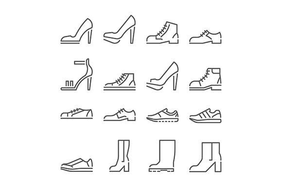 Footwear Line Icons