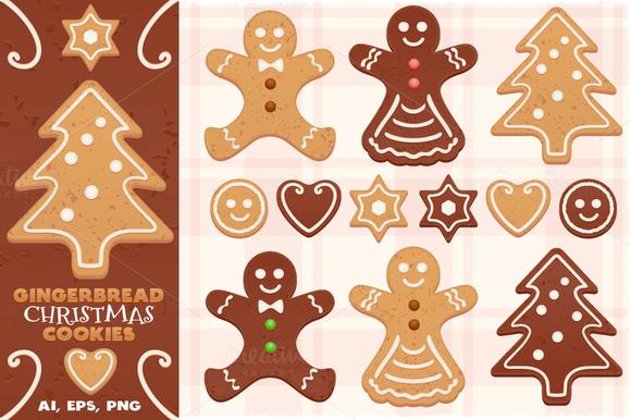 Gingerbread Vector Christmas Cookies