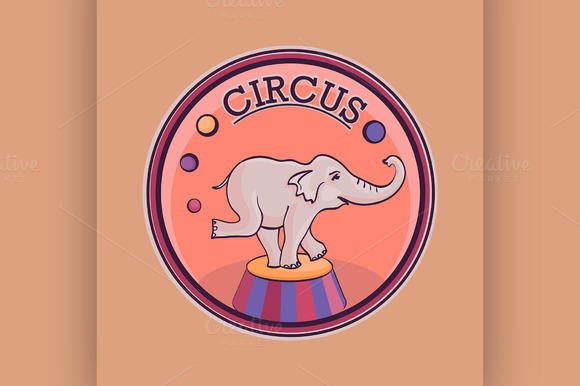 Hand Drawn Circus Lable