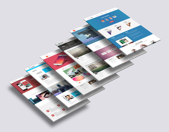 3D Website Mock-Up 2